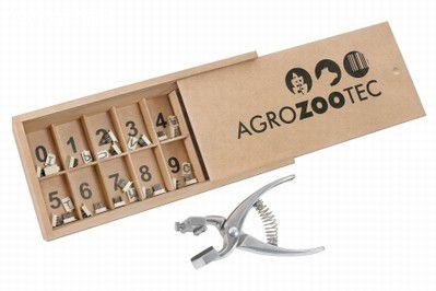 Tatuador em alumínio tipo stone gado bovino, súino, ovino e caprino 05 posições 8mm