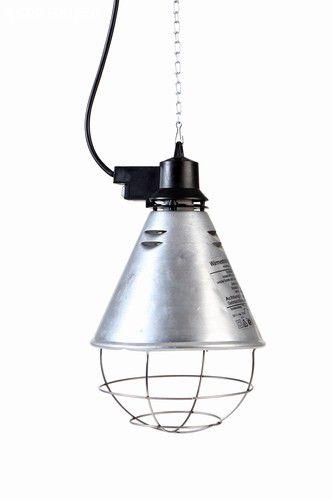 Porta lâmpada de alumínio para lâmpada i.v. Com grade protetora e corrente com regulagem ate 2,5 m