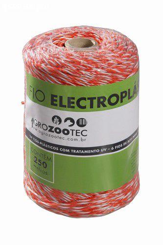 Fio eletroplástico 2mm (15 fios/ 6 fios aço 0,15mm)  anti-uv - branco e vermelho – 250m.
