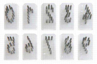 Jogo de números para tatuador burdizzo - (números de 0 a 9) 10mm
