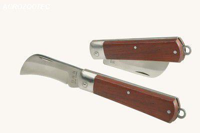Canivete em aço inox curvo - modelo haian