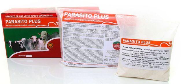 Parasito plus homeopatia 1kg - tratamento de moscas e carrapatos - 2 gramas animal dia