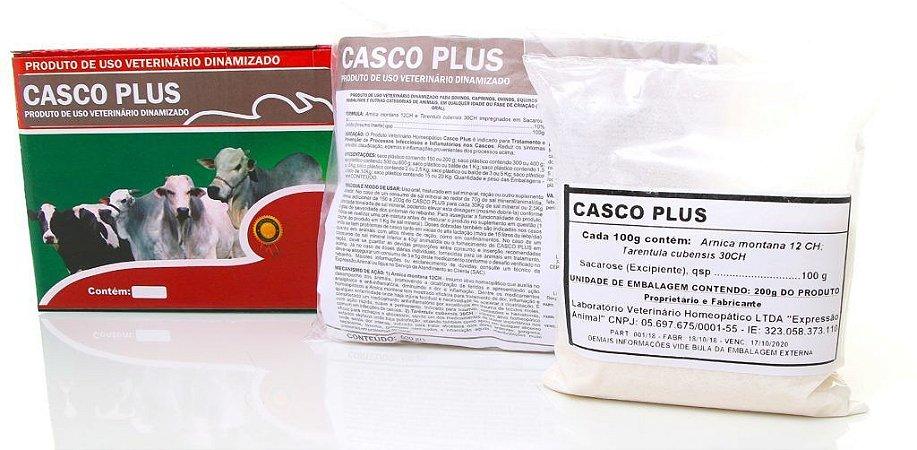 Casco plus homeopatia 01kg - prevenção e tratamento de doenças de casco - 1 grama animal dia