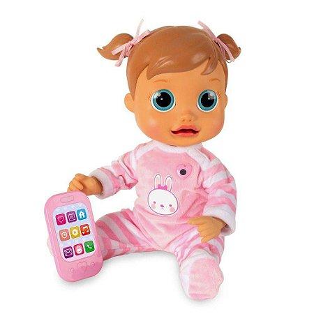 boneca interativa baby wow analu fala com movimento de boca
