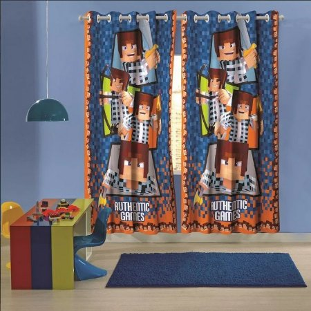 cortina com ilhós authentic games 3,00 x 2,10 lepper