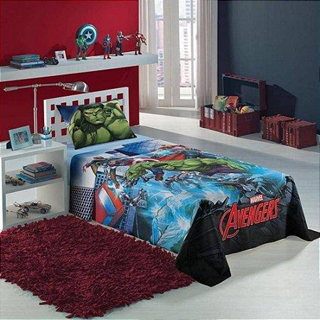 Jogo De Cama Infantil Avengers Os Vingadores 2 Peças Lepper