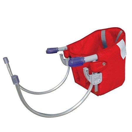 cadeira de alimentação sapeca kids com cinto segurança vermelha