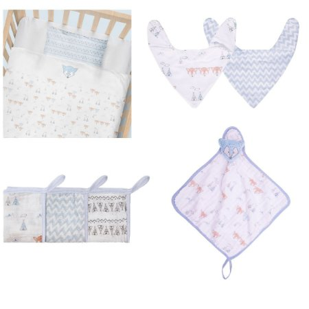 Enxoval De Bebê Chevron Papi Baby Kit 9 Peças - Menino