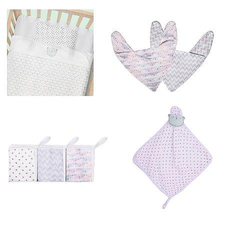 Enxoval De Bebê Chevron Papi Baby Kit 9 Peças - Neutro