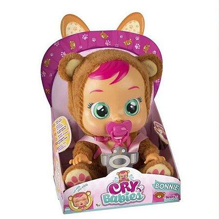 boneca cry babies bonnie urso chora com sons e lágrimas