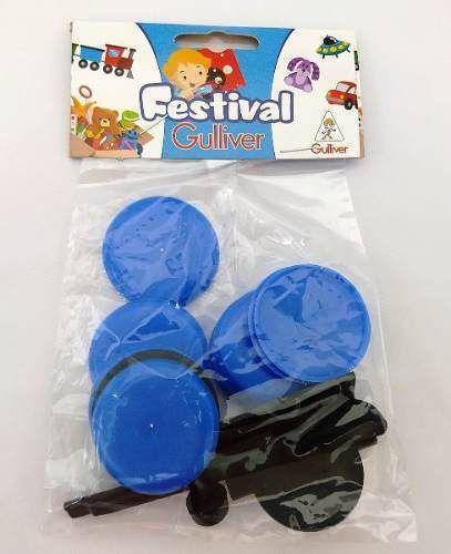 5 Pacotes De Futebol De Botão Bolão Gulliver - Azul