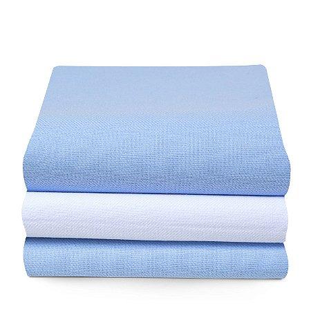 Cueiro Papi Karinho Liso 100 X 80 Cm 3 Unidades 100% Algodão - Azul