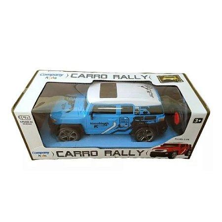 Caminhonete Carrinho Controle Remoto Sem Fio Rally Azul