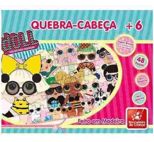 Quebra Cabeça Doll 48 Peças Brincadeira De Criança Loll Educativo