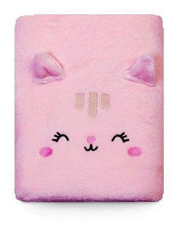 Cobertor Manta De Microfibra Mami Bichuus Papi Enxoval Bebê Rosa