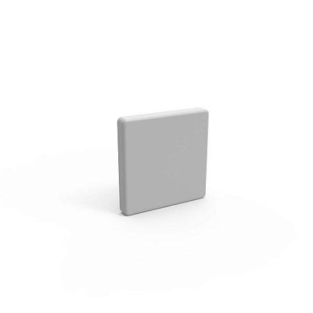 Capa de Fechamento Frontal Quadrada - Cinza