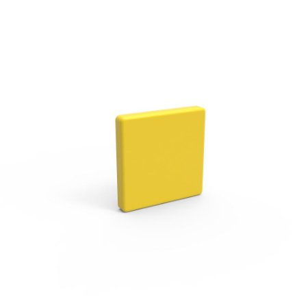 Capa de Fechamento Frontal Quadrada - Amarela