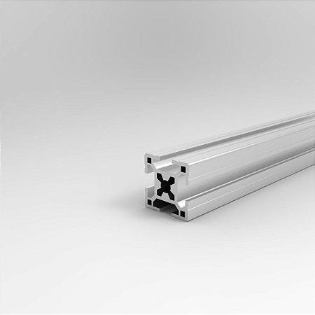 Perfil Estrutural em Alumínio 30x30 Centro M8 - Canal 8