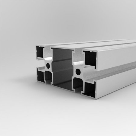 Perfil Estrutural em Alumínio 45x90 Parafuso - Canal Sextavado M8