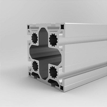 Perfil Estrutural em Alumínio 80x80 Reforçado - Canal 8