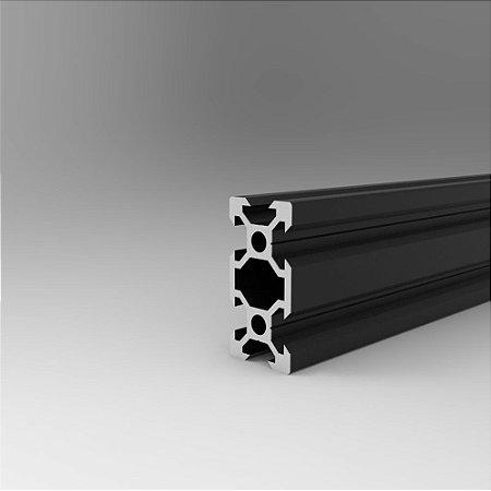 Perfil Estrutural em Alumínio 20x40 V-Slot Preto - Canal 6