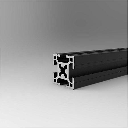 Perfil Estrutural em Alumínio 30x30 Centro M8 Preto - Canal 8