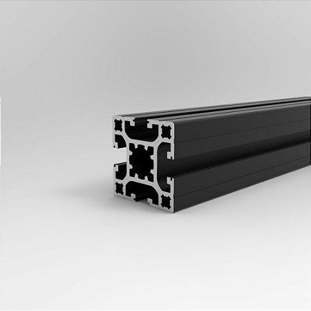 Perfil Estrutural em Alumínio 40x40 Básico Preto - Canal 8
