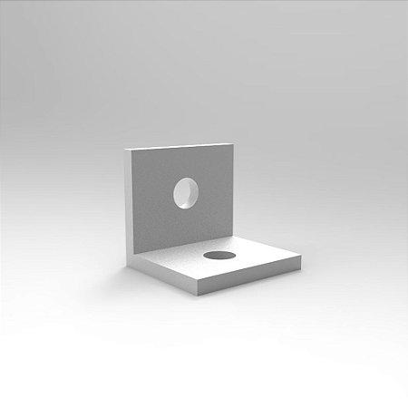 """Cantoneira em Alumínio 1"""" x 1"""" x 28mm p/ Montagem Perpendicular e Fixação de Tampo p/ Perfil Base 30"""