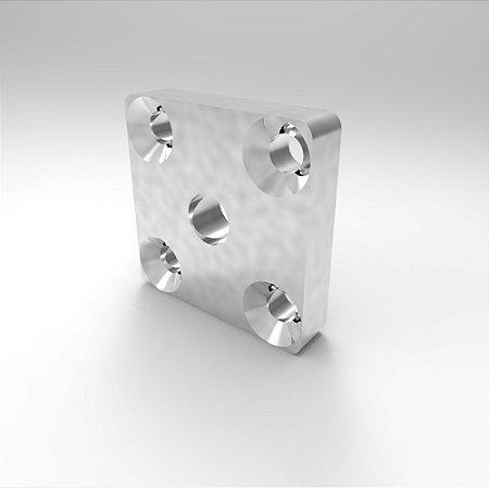 Placa para Fixação Rodízio - 40x40