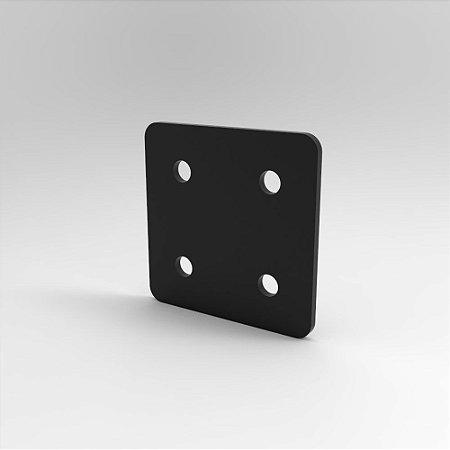 Placa de Conexão Quadrada p/ Perfil Base 15, 20, 30, 45 e V-Slot