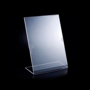 Display de Mesa em Acrílico p/ Folha A4 - Vertical