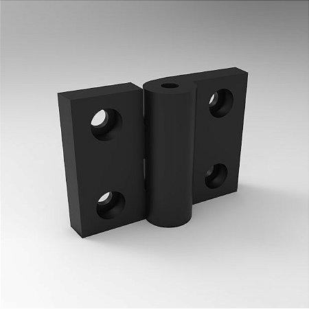 Dobradiça de Nylon 70x50mm - 45mm entre centros