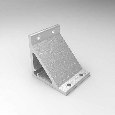 Cantoneira em Alumínio 100x100mm - Base Dupla p/ Perfil Base 80 e 90