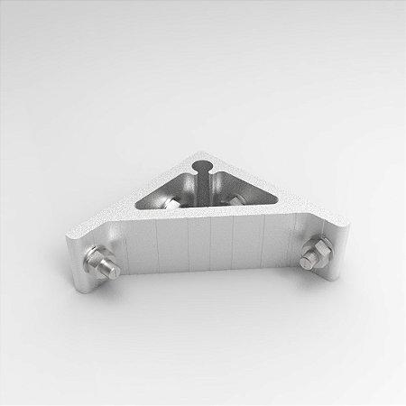 Cantoneira em Alumínio 100x100mm para Perfil Base simples c/ Fixadores p/ Perfil Base 30, 40, 45 e 50