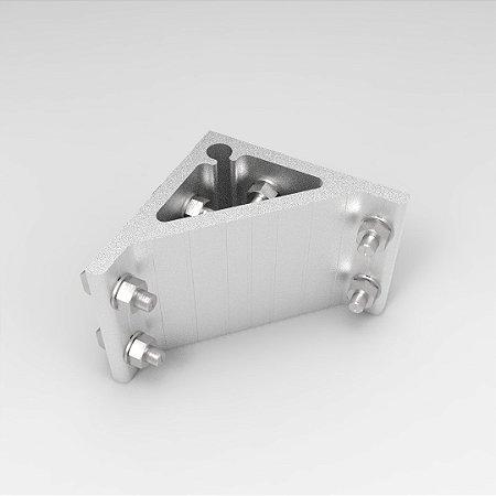 Cantoneira em Alumínio 100x100mm para Perfil Base simples c/ Fixadores p/ Perfil Base 80 e 90