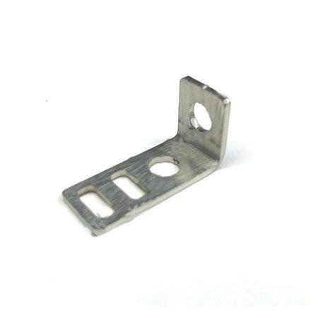 Chapa L em Inox para Tensionamento de correias 5mm e 6mm