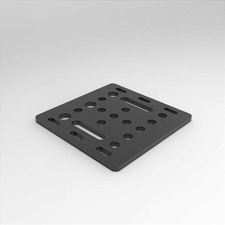 Placa para Perfil 20x20mm em Alumínio Para Montagem V-Slot