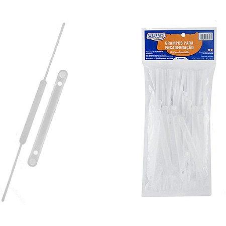 Grampo Trilho Plástico Cristal Pc C/50 Unidades Brw