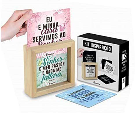 Quadro Mensagens Cards - Frases Fe - Brasfoot
