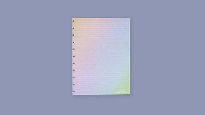 Refil A5 Pautado Rainbow 30 Folhas 120g Caderno Inteligente