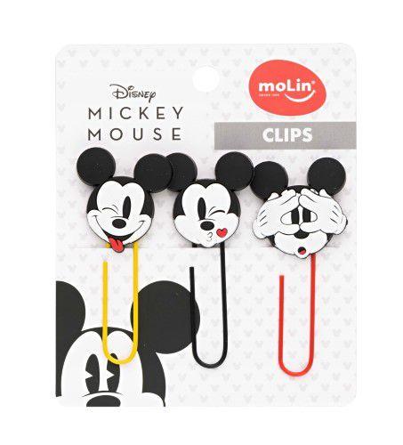 Clipes Mickey 50mm 3 Unidades Molin