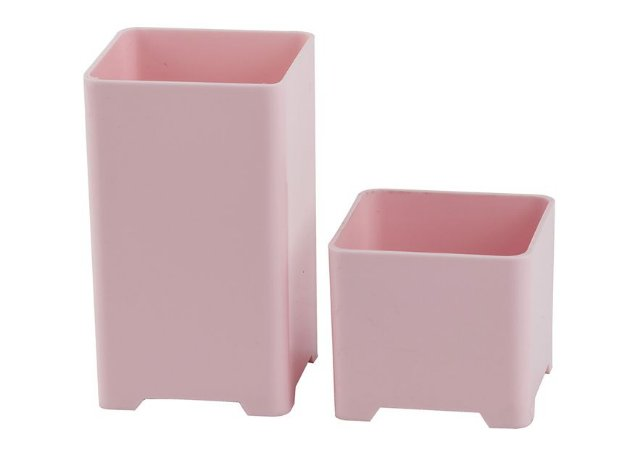 Kit Porta Objetos Rosa Pastel 2 Peças Waleu