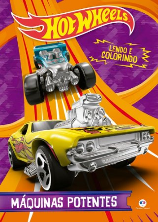 Livro Lendo e Colorindo Hot Wheels - Maquinas Potentes - Ciranda Cultural