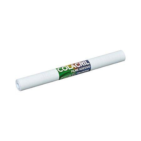 Papel Contact Branco 45cmx2m 90 Micras Colacril