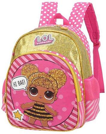 Mochila Lol Is33001Lo Dourado Costas Luxcel
