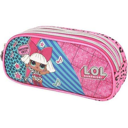 Estojo Esc Trip Lol Ei33006Lo Pink