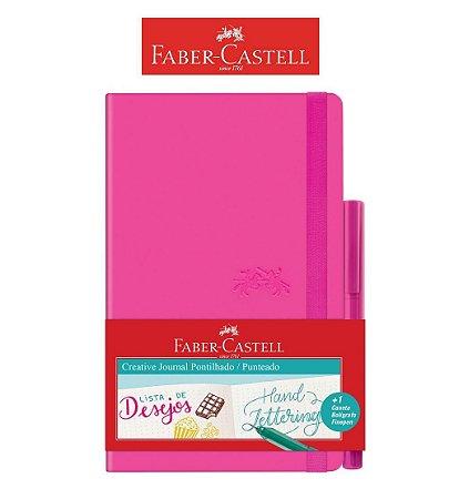 Caderneta Creative Pontilhada 84F Rosa Faber Castell