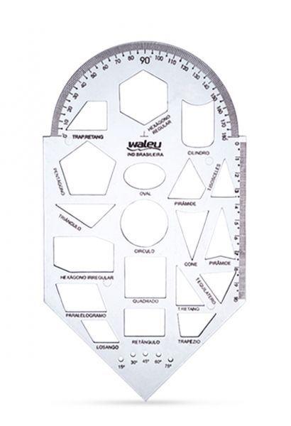 Regua Gabarito Geometria