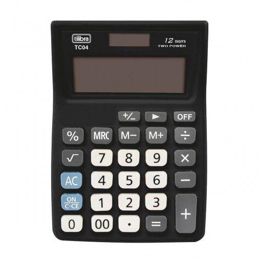 Calculadora De Bolso Tc04 Preta Tilibra