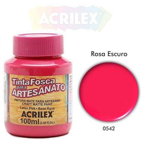 TINTA PVA FOSCA 100ML ROSA ESCURO (542) ACRILEX
